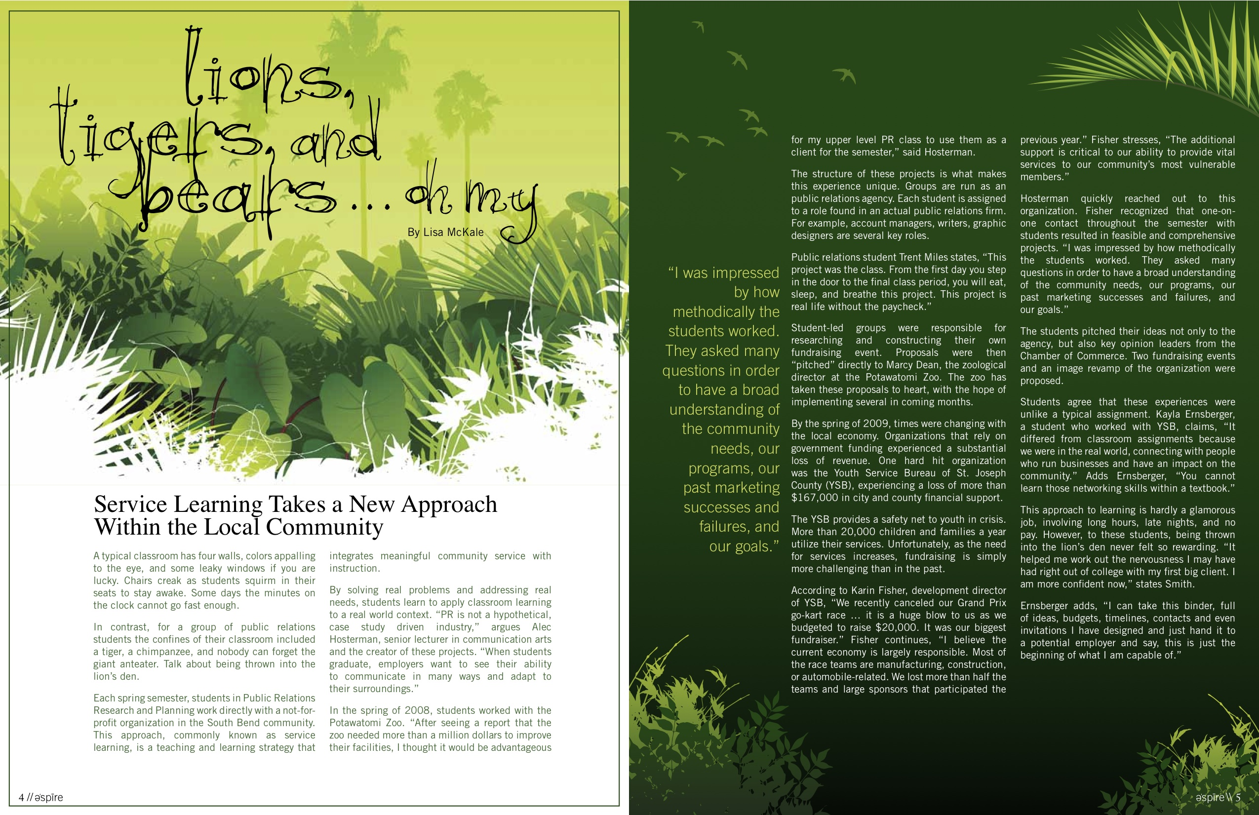 Magazine page 2 for Top design mag