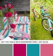 Raspberry and Blue